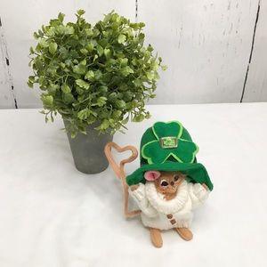 Annalee Leprechaun Shamrock Mouse Figurine